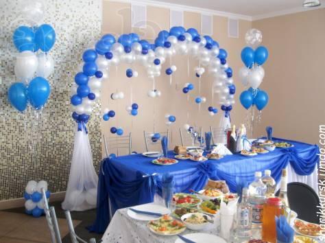 Как украсить на свадьбу зал шарами
